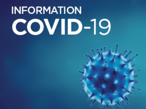 Photo d'un virus qui indique les informations sur le Covid 19